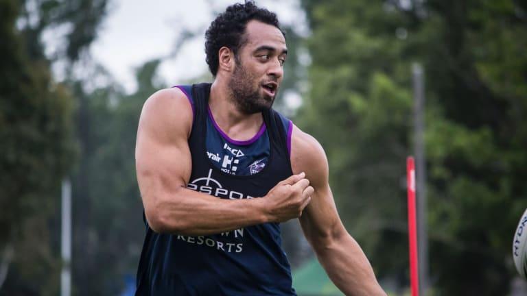 Melbourne Storm signing Sam Kasiano.