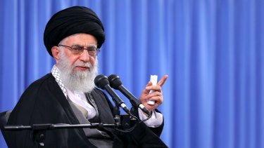 Iranian head of state, Supreme Leader Ayatollah Ali Khamenei.