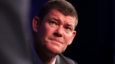 James Packer has lost about $1.8 billion on paper thanks to a 28 per cent fall in the share price of his Crown Resorts casino and entertainment business.