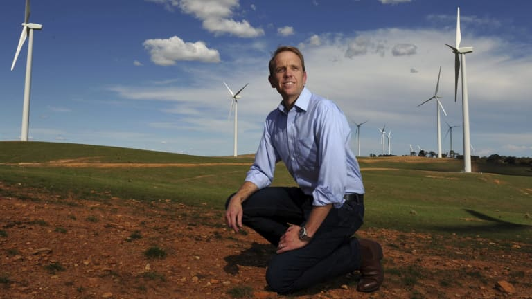 Environment Minister Simon Corbell: 100 per cent renewables by 2020.