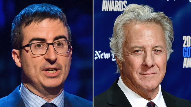 John Oliver says his recent confrontation with Dustin Hoffman didn't achieve anything.