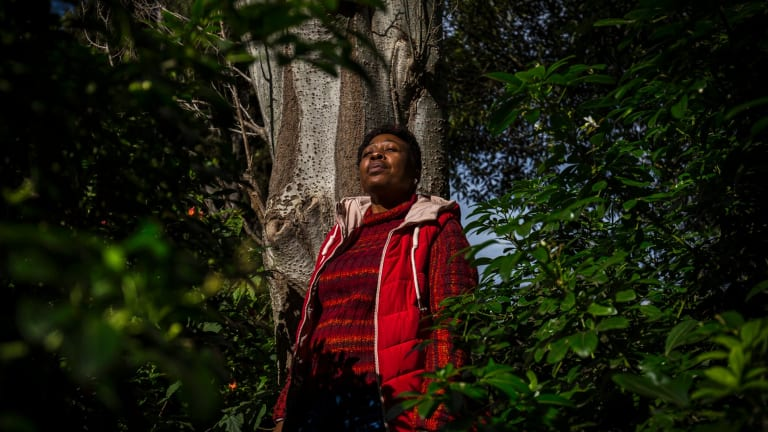 Francina Nkosi from Lephalale came to Australia to highlight problems caused by Australian mines in Africa.