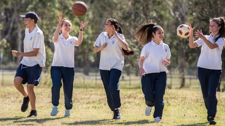 Students at Emmaus Catholic College at Kemps Creek enjoy regular physical education.