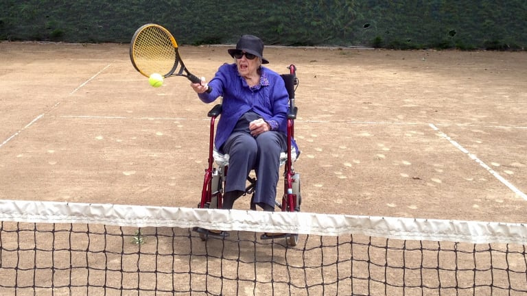 Joan Russell was a keen tennis player
