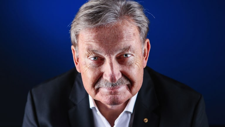 High praise: John Bertrand, former sailor and America's Cup winning skipper, now SA president.