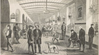 The Royal Hospital of Bethlem - the Gallery for Men (1860).