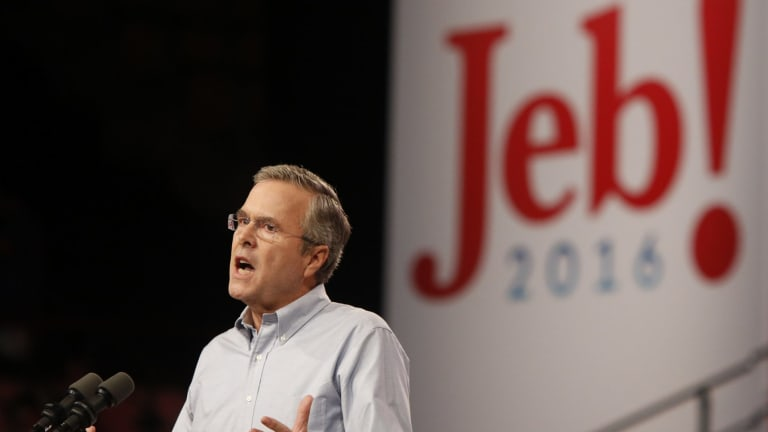 Jeb Bush cast a wide net for voters in his campaign kick-off speech in Florida..