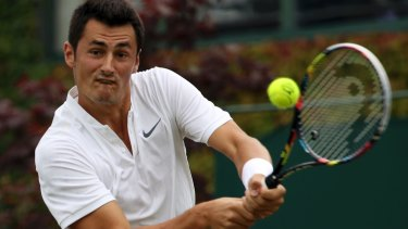 Bernard Tomic bombed out in the first round at Wimbledon this year.