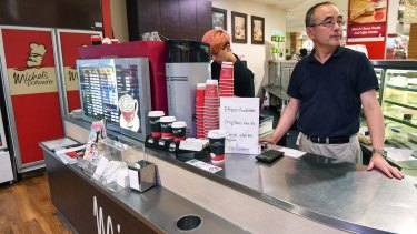Wayne Hong a franchisee who owns the Michel's Pattiserie store in Knox Shopping Centre says his dream was ruined.