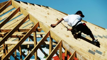 The survey found that men hold 91 per cent of construction jobs.
