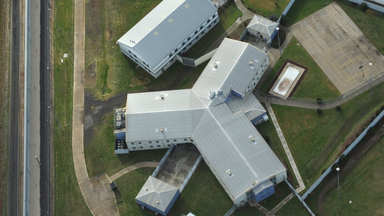 Prisoners are in 23-hour lockdown after a fire at Port Phillip Prison.