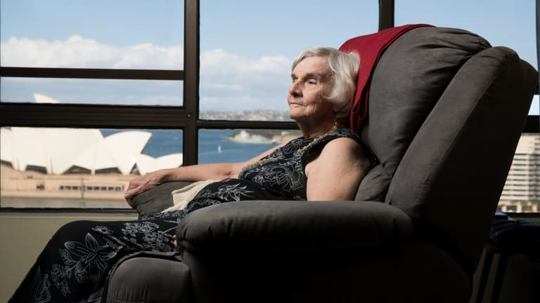 Myra Demetriou has lived in The Rocks since 1959, when she used a copper to heat hot water.