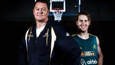 Longley as a coach with Cameron Bairstow.