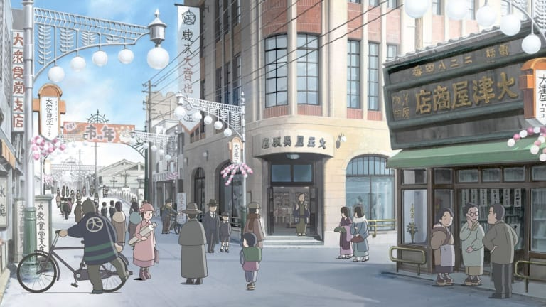 In This Corner of the World has jaw-droppingly gorgeous settings, in which all the buildings are depicted with full accuracy.