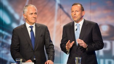 """""""I told him and told him"""": Malcolm Turnbull and Tony Abbott get technical."""
