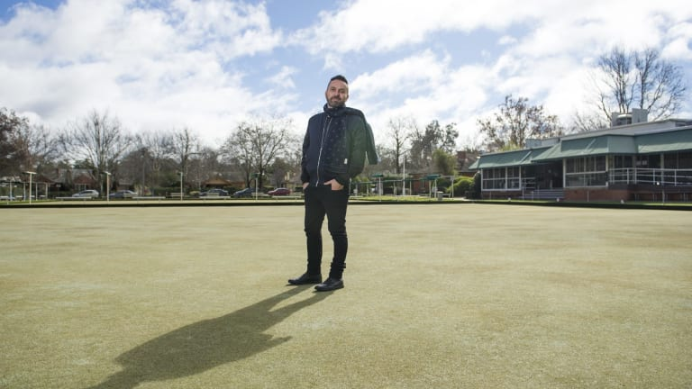 Nik Bulum at the Canberra City Bowling Club site.