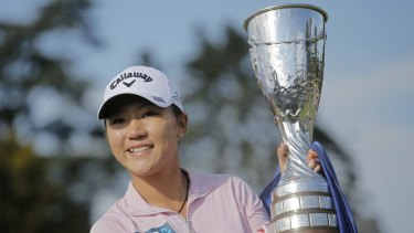 Clear of the pack: Lydia Ko of New Zealand.