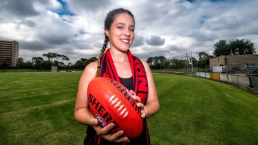 Laura Macdonald was inspired by launch of AFLW to join a football team.