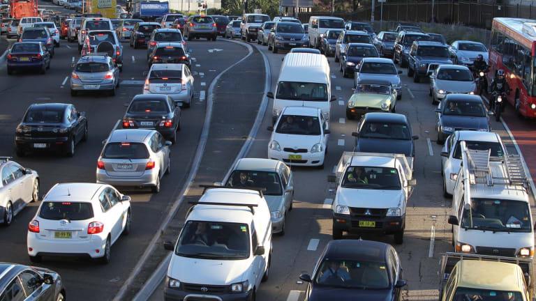 Heavy traffic on Victoria Road.