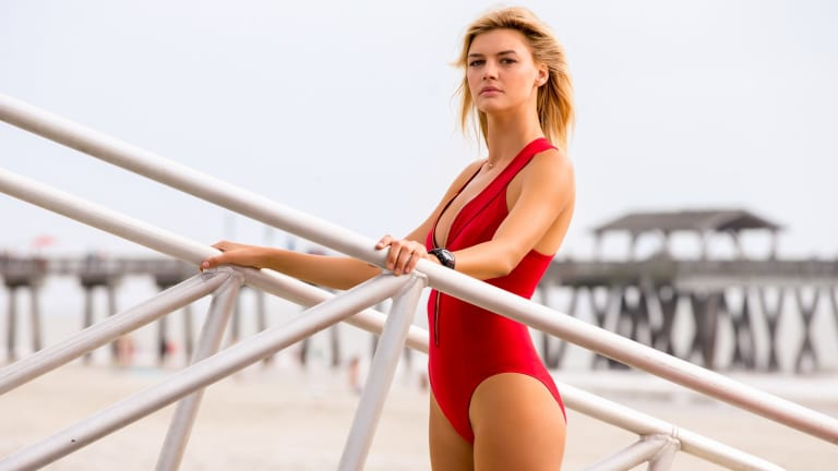 Kelly Rohrbach stars as C.J. Parker, reportedly beating out Jessica Simpson and Kate Upton for the role.