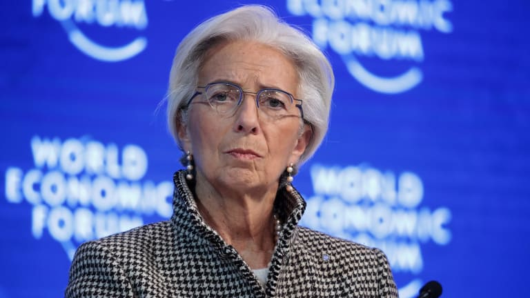 IMF chief Christine Lagarde at last year's Davos meeting.