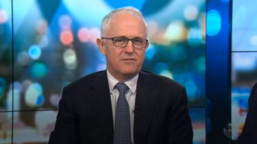 Turnbull was saved from responding by host Carrie Bickmore.