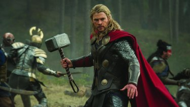 It's unclear if Chris Hemsworth will be swinging the mighty Mjolnir around the Brisbane CBD.