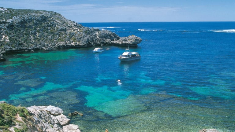 The diver was reported dead off Rottnest at 1.30pm on Sunday.