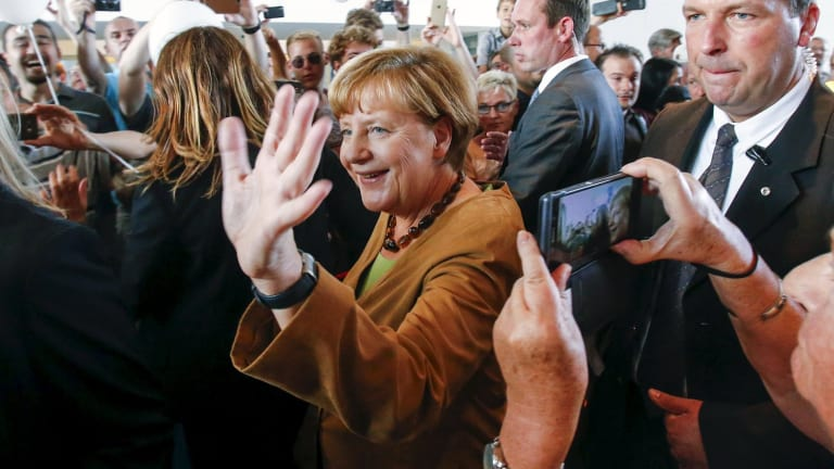 German Chancellor Angela Merkel has called for Europe to unite to solve the refugee crisis.
