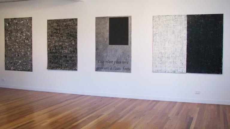 John Loane's <i>Ceci N'est plus une gravure a l'eau forte</i> at Megalo Print Studio and Gallery in 2015.