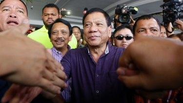 Philippines presidential frontrunner Rodrigo Duterte.