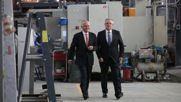Prime Minister Malcolm Turnbull and Treasurer Scott Morrison visited Pacific Stone in Canberra