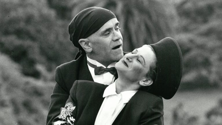 Phil Sumner and Evelyn Krape in <i>A Midsummer Night's Dream</i>, 1993-94.
