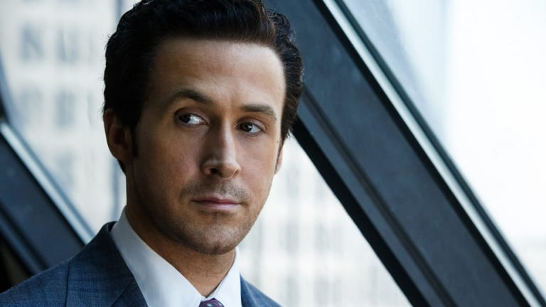 "Ryan Gosling plays Jared Vennett in ""The Big Short""."