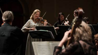 Violinist Rachel Podger and members of the Orchestra of the Age of Enlightenment played works by Haydn, Mozart and J.C. Bach.
