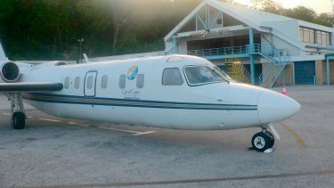 The Pel-Air Westwind plane that ditched into the ocean off Norfolk Island in 2009.
