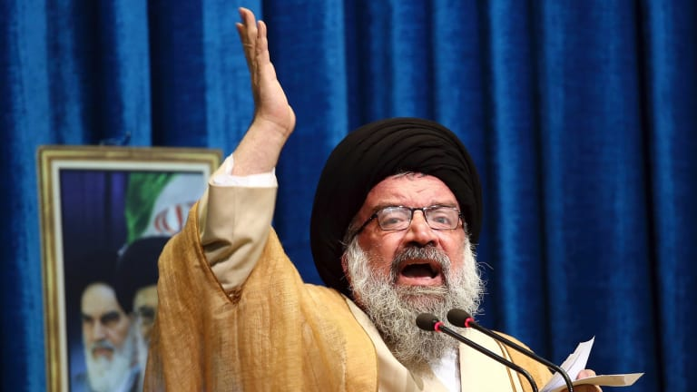 A supposedly charitable foundation controlled by Ali Khamenei, pictured, has reportedly accrued assets worth an estimated $95 billion.