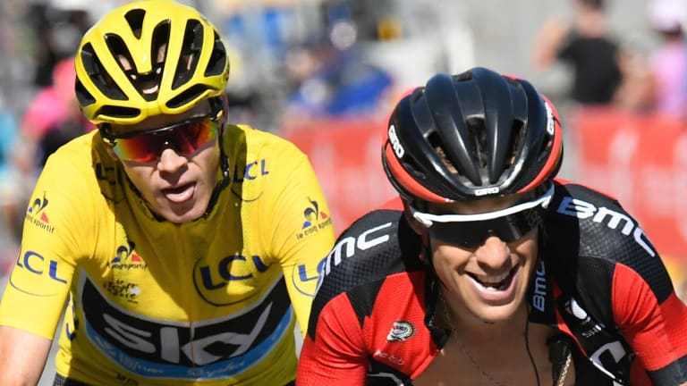 'Massive shock': Chris Froome and Richie Porte were teammates at Sky.