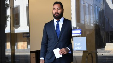 Licence suspended: Tony Williams leaves court on Wednesday.