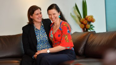 Liz Bennett and Carly Schrever were married in New York in 2015.