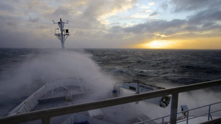 Stormy times for the CSIRO: On board RV Investigator.