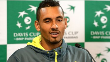 Making waves on and off the court: Nick Kyrgios.