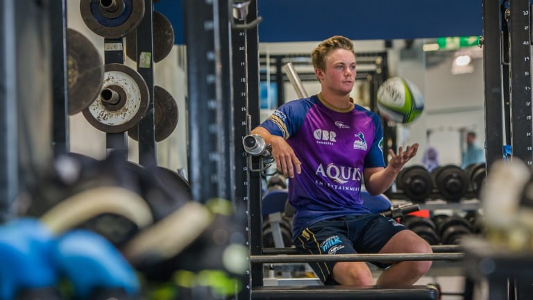 Halfback Ryan Lonergan has swapped the schoolyard for the Brumbies' training field and gym.