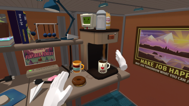 A screengrab from Job Simulator.