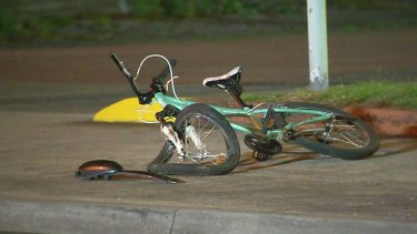 The 13-year-old girl's bike was left warped after the hit-run in Coburg.