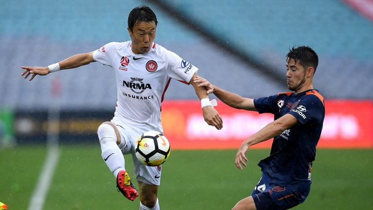 Departing: Jumpei Kusukami is to leave the Western Sydney Wanderers.