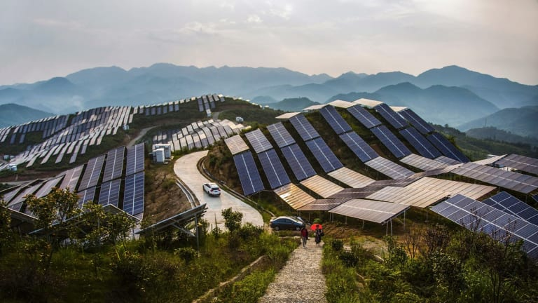 "Solar PV panels in China's Fujian province: David Green of Lyon Group says Australia is ""naive"" about the technology."