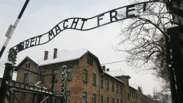 'Work Sets You Free': the main entrance to the former Nazi death camp Auschwitz Birkenau, in Oswiecim, southern Poland. About 30,000 Israeli high-school students go on organised week-long trips to Poland every year. A group of travel agencies have been arrested for alleged price fixing for the school trips.