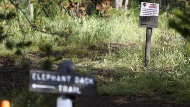 The start of the Elephant Back Loop Trail in Yellowstone National Park, Wyoming, which has been temporarily closed after the death of a hiker.