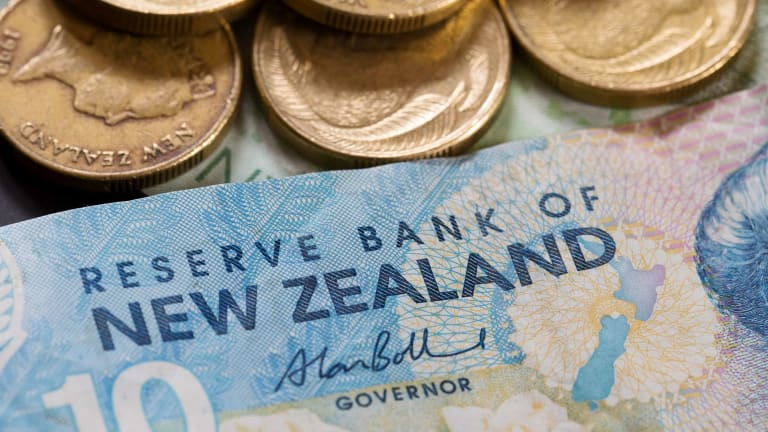 The Aussie has jumped to a six-week high against the kiwi dollar.